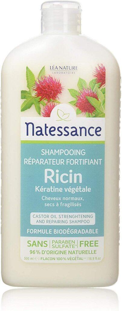 Natessance Capillaire Shampooing À l'huile de Ricin et Kératine Végétale