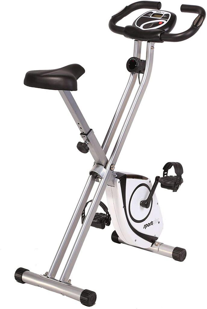 SportPlus - Vélo d'Appartement - Pliable et ultra compact - Vélo d'appartement pour débutant avec bluetooth de la marque SportPlus
