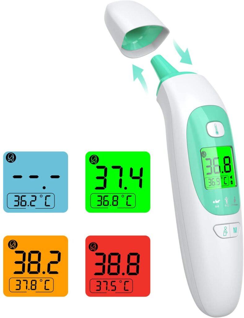 thermomètre infrarouge et digital efficace, Braun infrarouge Kkmier