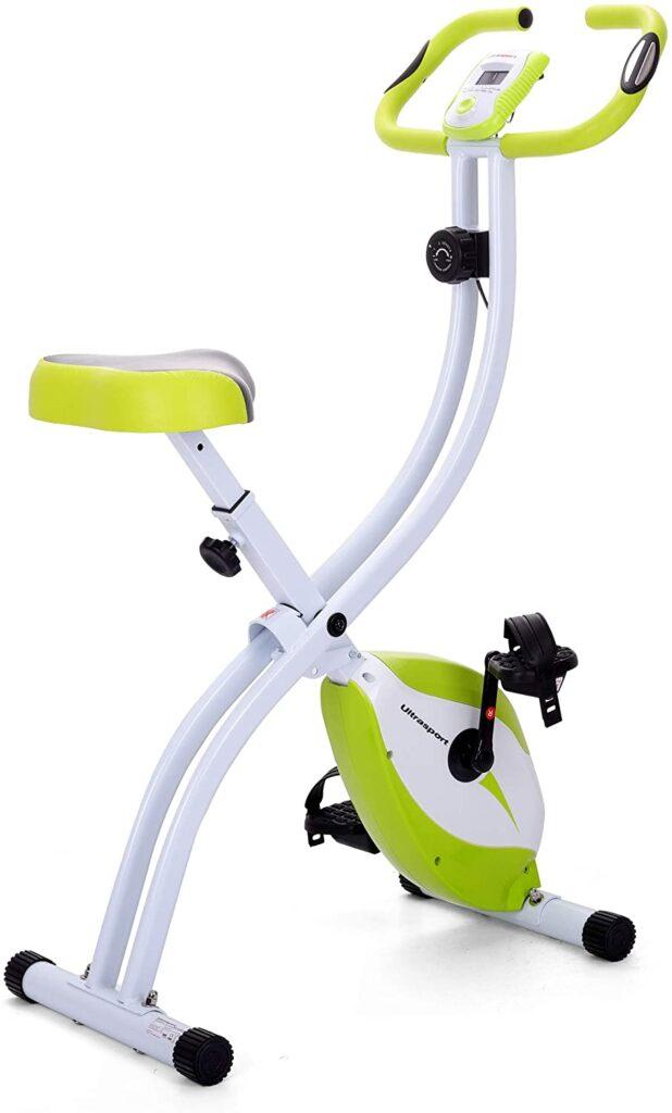 Ultrasport F-Bike Vélo Dossier, Ordinateur d'Entraînement et Application - Vélo d' appartement économique. Idéal pour les débutants de la marque Ultrasports