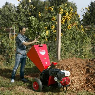 broyeur pour végétaux thermique avec système à turbine